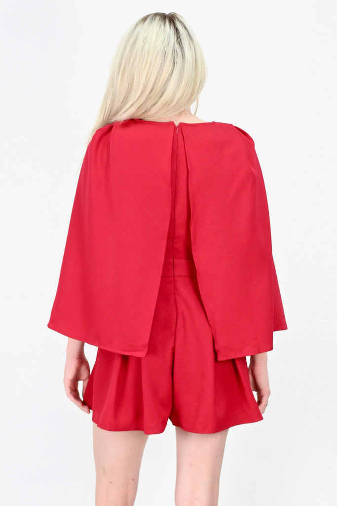 Only the Best Caped Romper {Red}