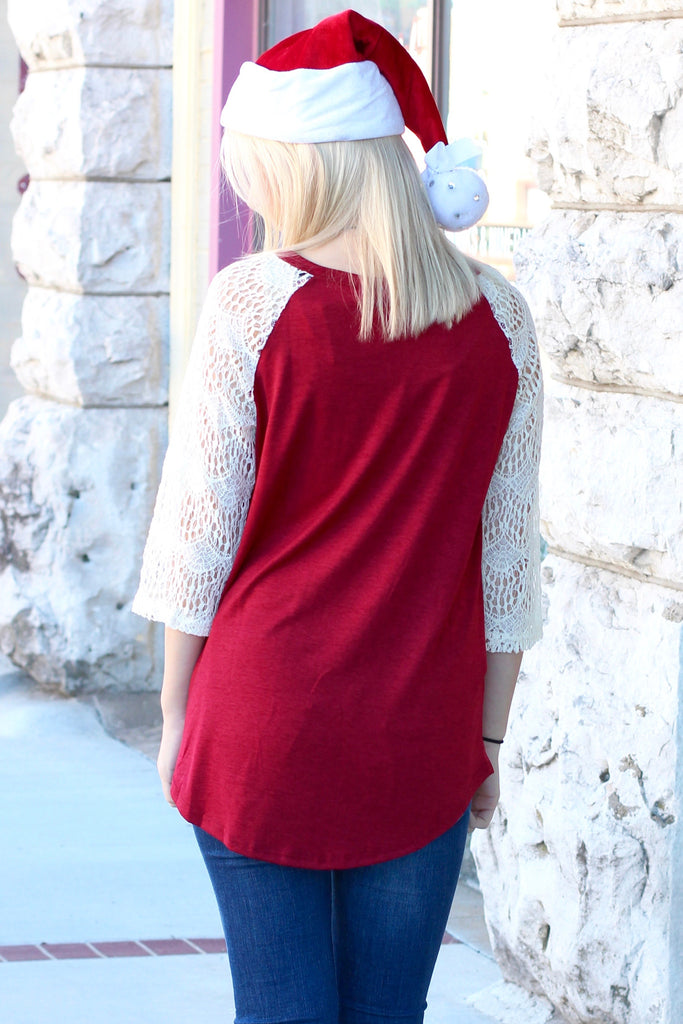 Merry Little Christmas Trailer + Cactus Lace Sleeve Raglan - The Fair Lady Boutique - 3