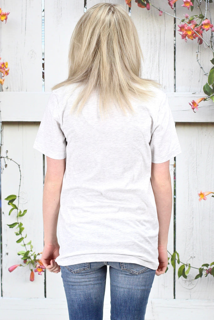 How to Live V-neck Tee {Light H. Grey}