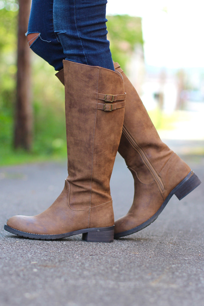 Very Volatile: Mira Riding Boot {Tan} - The Fair Lady Boutique - 2