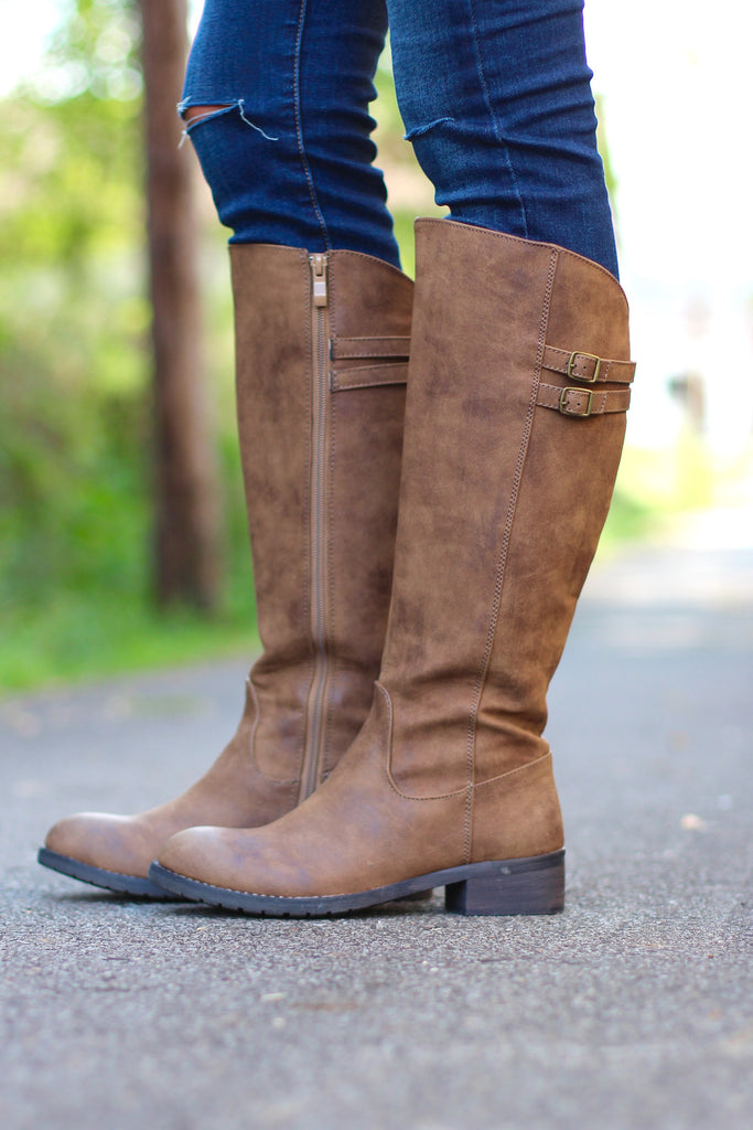 Very Volatile: Mira Riding Boot {Tan} - The Fair Lady Boutique - 1