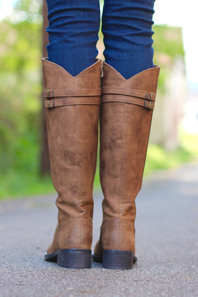 Very Volatile: Mira Riding Boot {Tan} - The Fair Lady Boutique - 4