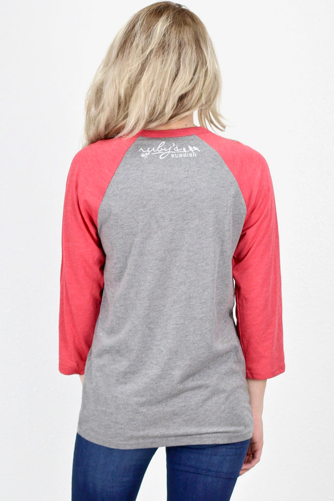 Bake Things & Christmas Movies Raglan {Red Sleeves}