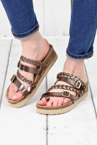 Simmie Perforated Ankle Wrap Wedge Sandal {Tan}