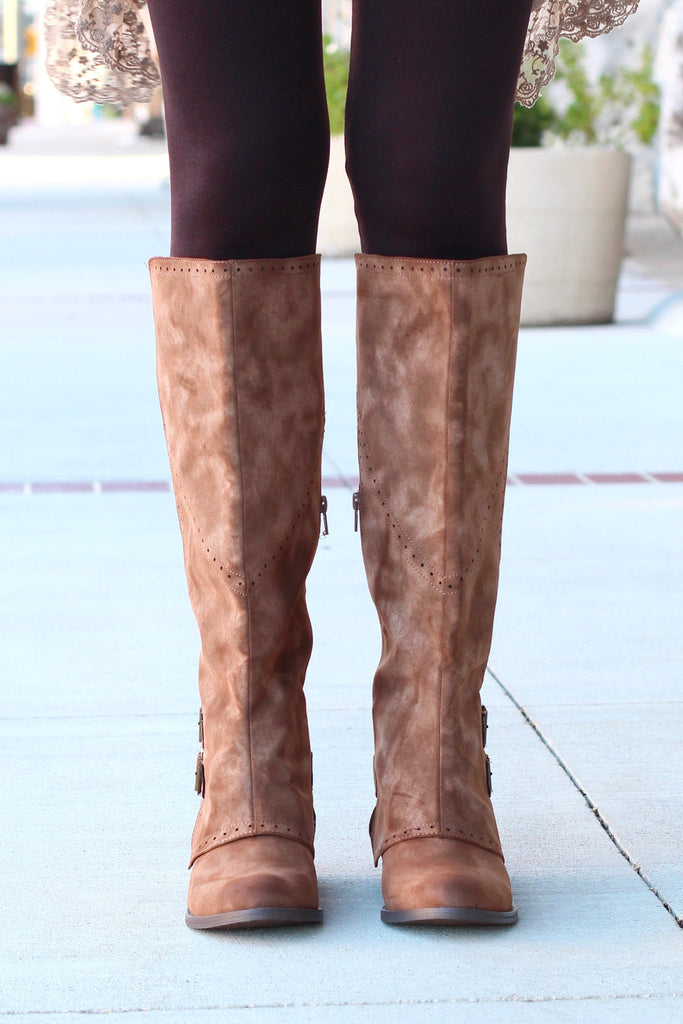 Not Rated: Blaire Riding Boots {Brown} - The Fair Lady Boutique - 2