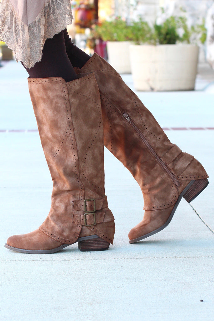 Not Rated: Blaire Riding Boots {Brown} - The Fair Lady Boutique - 3