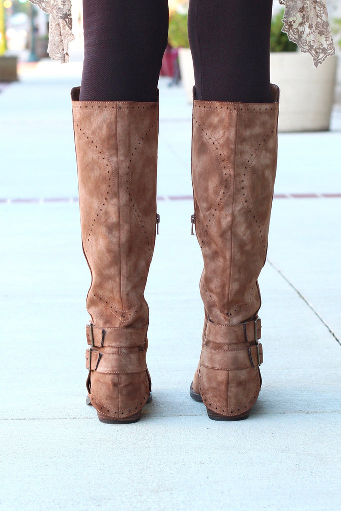 Not Rated: Blaire Riding Boots {Brown} - The Fair Lady Boutique - 4