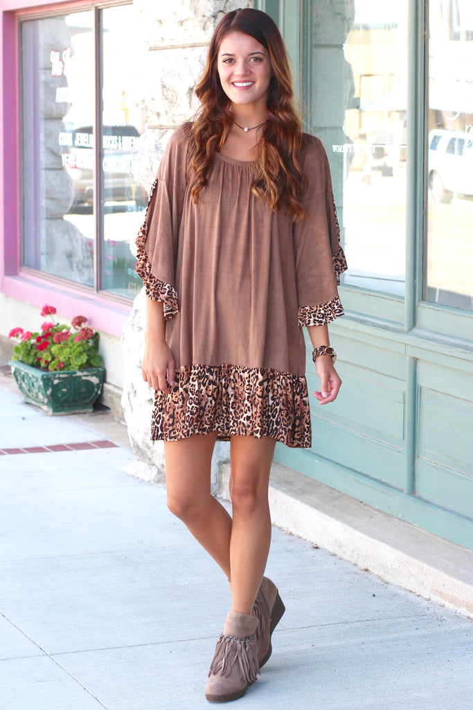 Candy Fringe Front Suede Wedge Bootie {Taupe} - The Fair Lady Boutique - 6