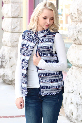 Snow Bunny Quilted Vest {White}