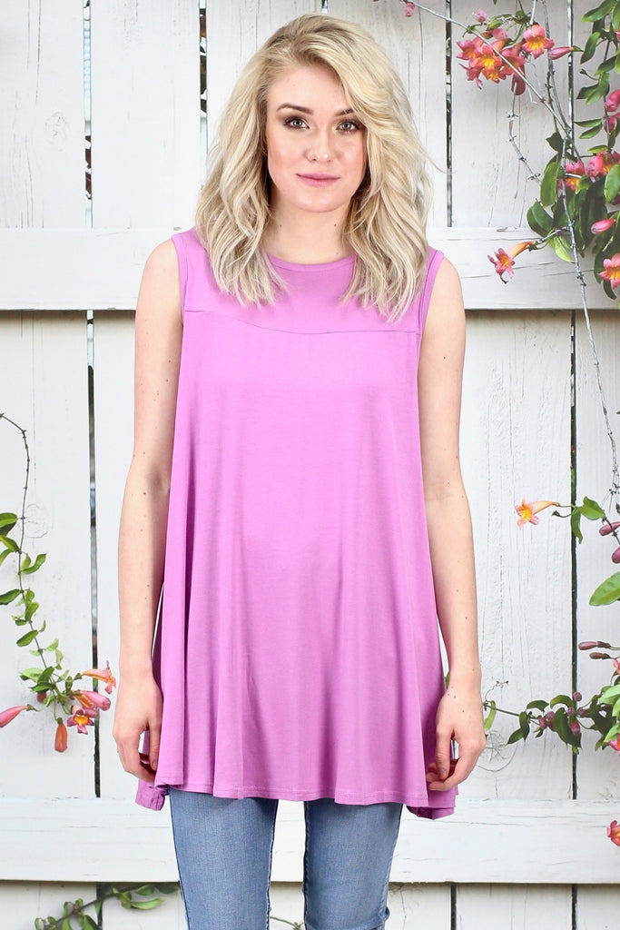 Oversized Swing Tunic Tank {Violet}