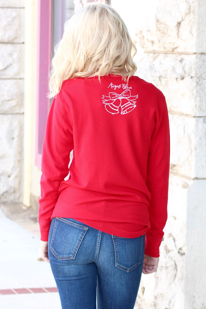 If You're Gonna Jingle... Jingle All the Way Thermal {Red} - The Fair Lady Boutique - 2
