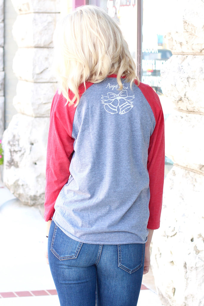 Go Get You Some Jolly Raglan {H. Grey+Red} - The Fair Lady Boutique - 3