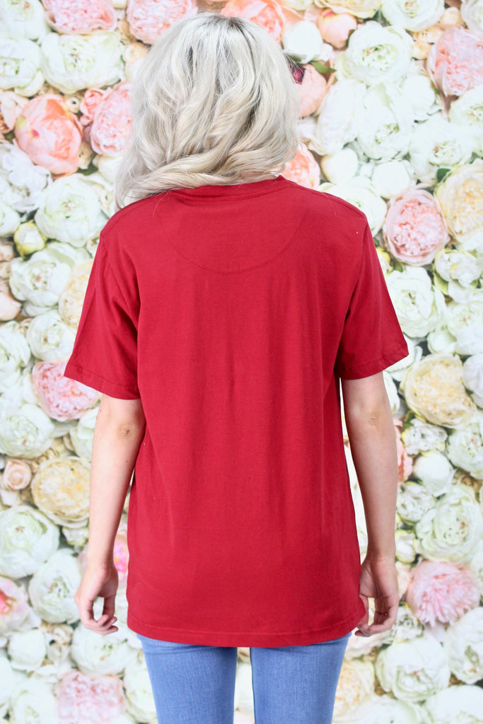Arkansas Razorbacks Lace-Up Tee {Deep Red}
