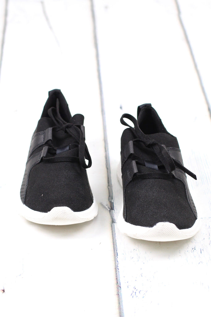 Not Rated: Marie Perforated Memory Foam Sneakers {Black}