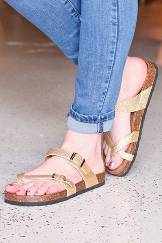 Bungalow Strappy Zip Back Sandals {Desert Sand}