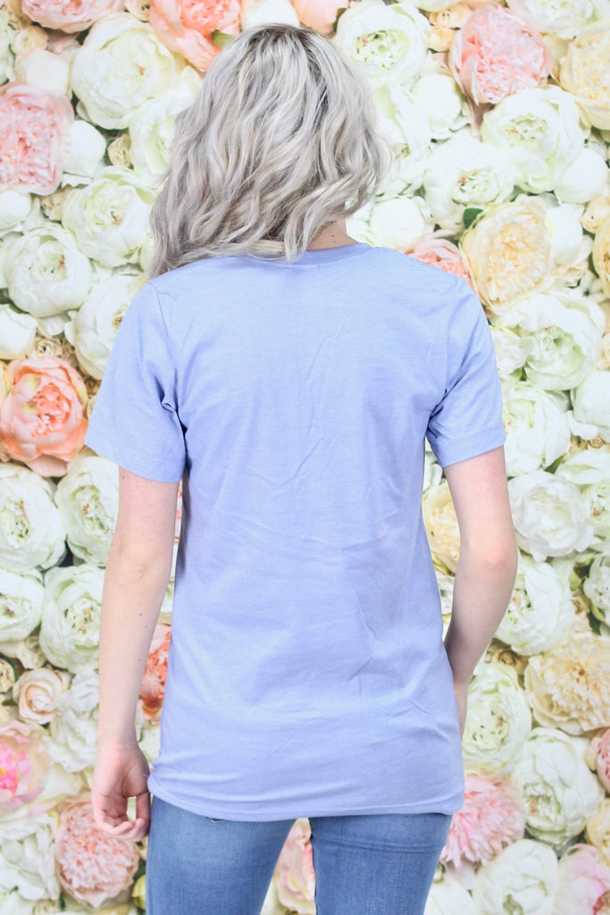 Colorful HOGS Short Sleeve Tee {Heather Blue}
