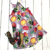 Sweet On the Inside Pineapple Dress {Lavender Mix}