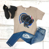 Tom the Turkey Graphic Tee {Beige}