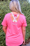 Jadelynn Brooke: Can't Adult Today Embroidered Slouchy Tee {Coral}