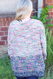 Ombre Color Mix Confetti Popcorn Sweater