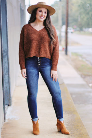 {Oatmeal} Leopard Tonal Knit Sweater