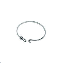 Load image into Gallery viewer, Sterling Silver Hook Bangle