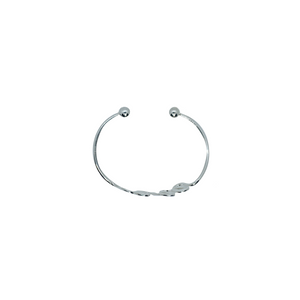 Sterling Silver Wiggle Torq Bangle