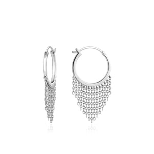 Ania Haie | Silver Fringe Fall Earrings