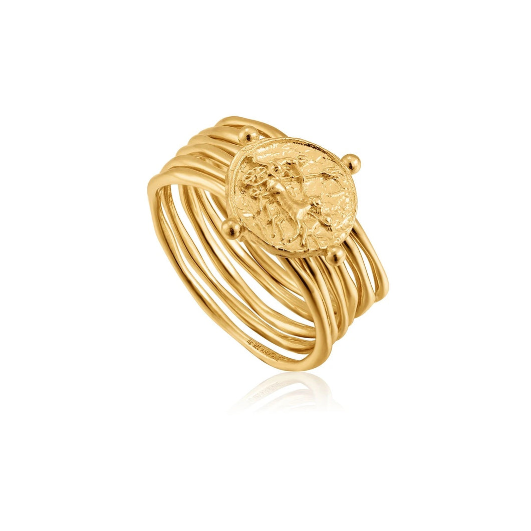 Ania Haie | Gold Apollo Ring