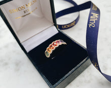Load image into Gallery viewer, 18ct Yellow Gold Multi Sapphire & Diamond Ring