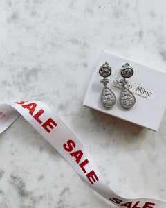 Solid Silver Cubic Zirconia Earrings