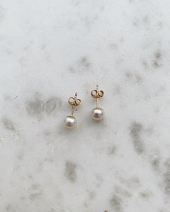 9ct Yellow Gold, Freshwater Pearl Earrings