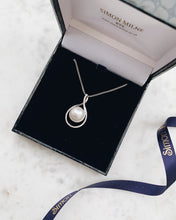 Load image into Gallery viewer, 18ct White Gold Diamond & Pearl Pendant