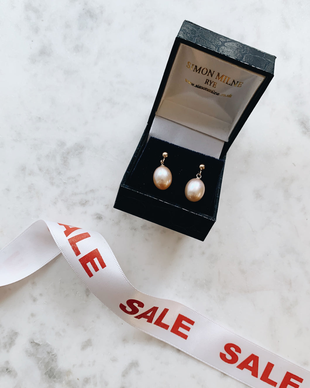 9ct White Gold Freshwater Pearl Drop Earrings
