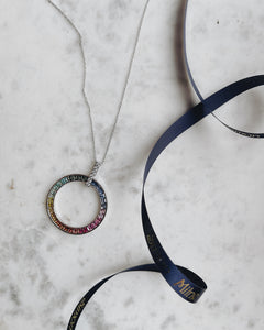 'For Our NHS' | Solid Silver Rainbow Necklace