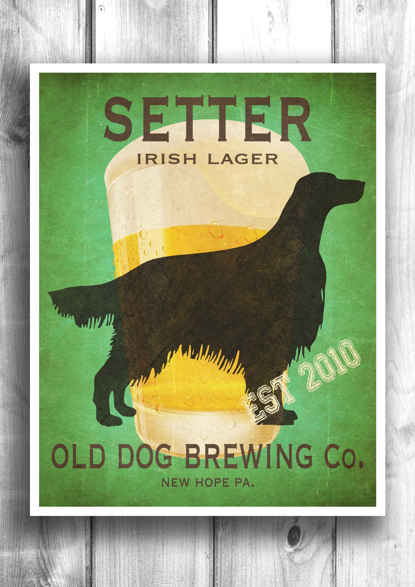 Customizable Irish Setter Beer Print - Old Dog Brewing Co.