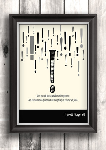 Literary Art - F. Scott Fitzgerald Quote, Art Poster, Minimalist Black and White - Fine art letterpress poster