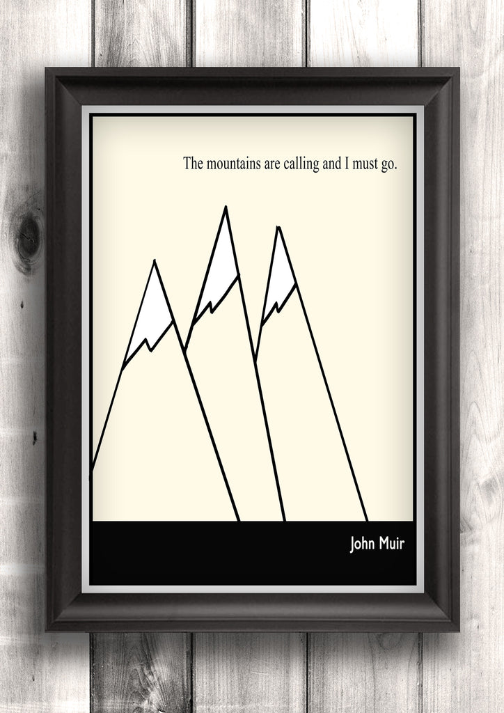 Literary Art - John Muir Quote, Minimalist Art Poster, Black and ...