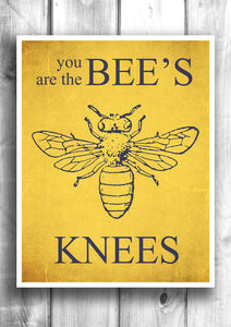 The Bee's Knees - Fine art letterpress poster