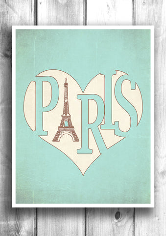 Paris - Fine art letterpress poster