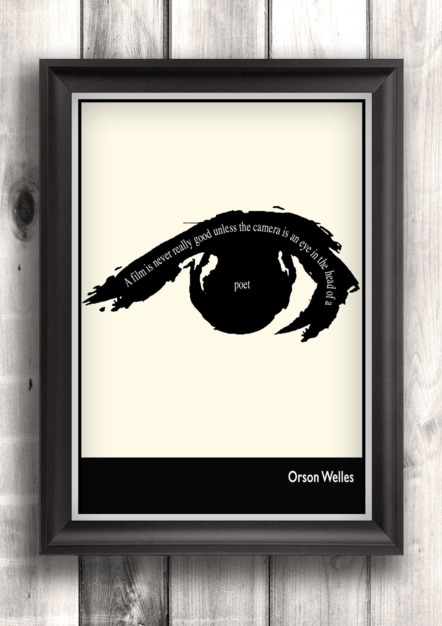 Literary Art - Orson Welles Quote, Minimalist Art Poster, Black and White - Fine art letterpress poster