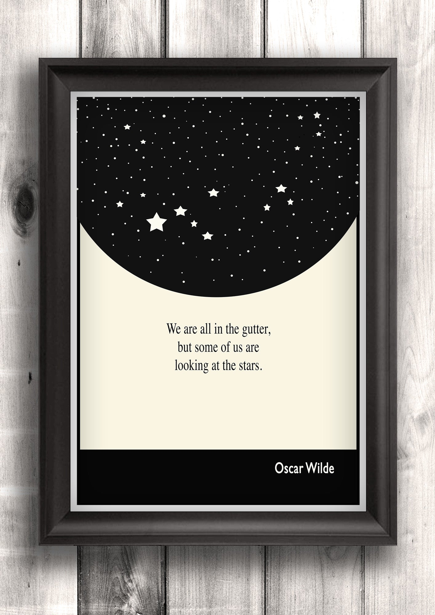 Literary Art - Oscar Wilde Quote, Art Poster, Minimalist Black and White - Fine art letterpress poster
