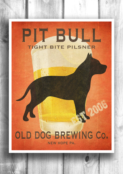 Pitt Bull Beer Print - Fully Customizable Old Dog Brewing Co.