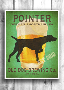 Customizable German Shorthair Pointer Beer Print - Old Dog Brewing Co.