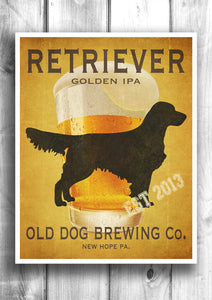 Customizable Golden Retriever Beer Print - Old Dog Brewing Co.