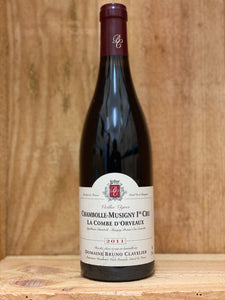 Bruno Clavelier 2011 Chambolle-Musigny 1er Cru La Combe D'Orveaux