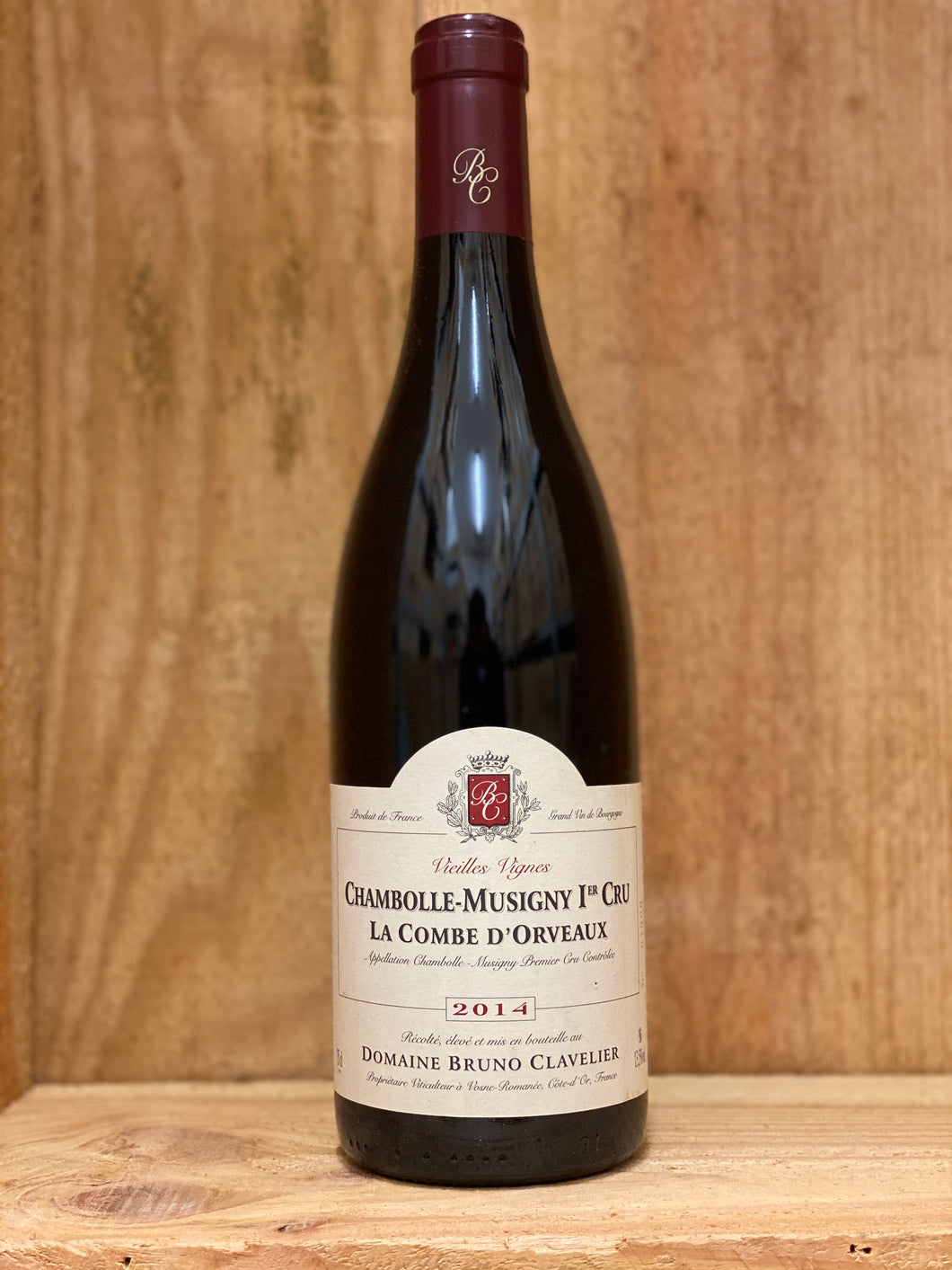 Domaine Bruno Clavelier  2014 Chambolle-Musigny 1er Cru La Combe D'Orveaux