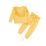 Yellow lounge frill