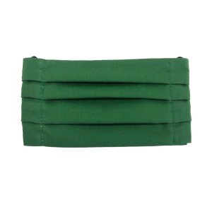 Forrest Green Pleated Face Mask