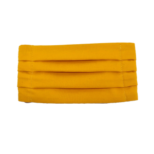 Sunflower Yellow Pleated Face Mask